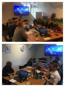 Deelnemers aan de training Zakelijk schrijven